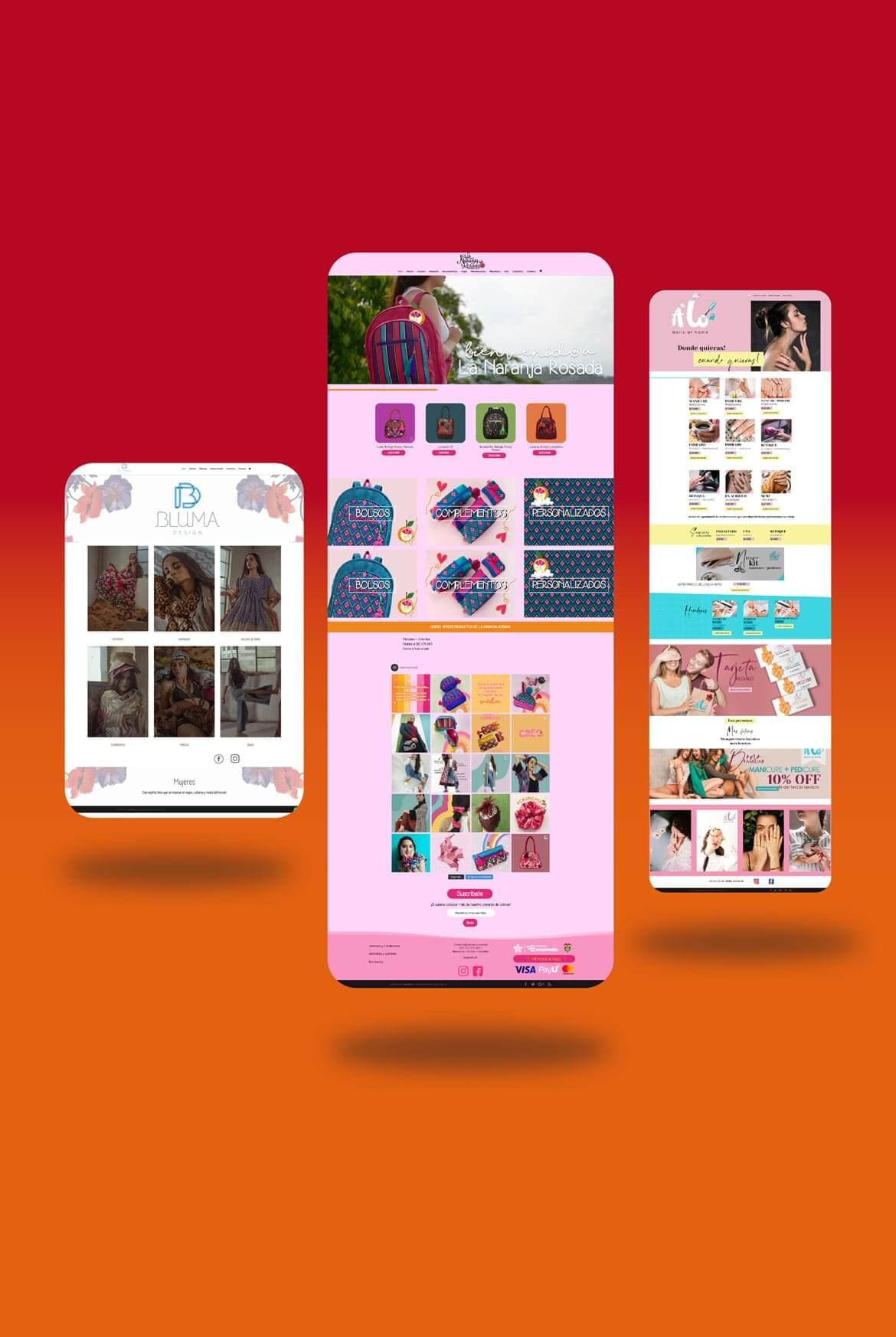 Páginas con tienda virtual